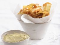 Sweet Potato Crisps with Dipping Aioli recipe