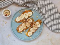 Sweet Potato Toast with Peanut Butter and Banana recipe