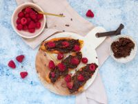 Sweet Potato Toast with Plum-Cocoa Spread and Berries recipe