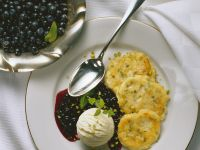 Sweet Ricotta Pancakes with Blueberry Sauce recipe