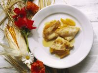 Sweetened Apricot Crepes recipe