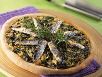 Swiss Chard and Sardine Pizza recipe