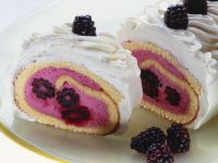 Swiss Roll with Blackberry Cream Filling