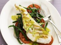 Swordfish Steaks with Green Beans and Tomatoes recipe