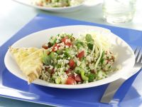 Tabbouleh Salad with Toasted Cheese Triangles recipe