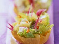 Taco Shells with Pineapple Avocado Salad recipe