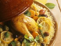 Tagine Chicken with Vegetables, Olives and Lemon recipe