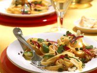 Tagliatelle Pasta with Vegetables recipe