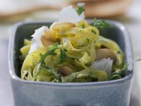 Tagliatelle with Arugula Pesto recipe