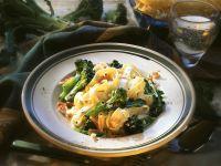 Tagliatelle with Bacon and Broccoli recipe