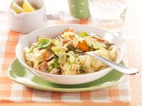 Tagliatelle with Chicken and Vegetables recipe