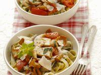 Tagliatelle with Mushroom and Tomato Sugo recipe