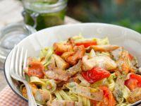 Tagliatelle with Mushrooms and Ham recipe
