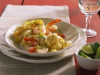 Tagliatelle with Shrimp and Lime