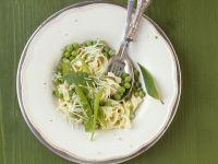 Tagliatelle with Snow Peas recipe