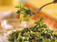 Tagliatelle with Spinach and Herb Sauce recipe