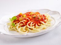 Tagliatelle with Summer Squash and Tomatoes