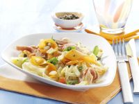 Tagliatelle with Turkey Sausage and Carrots