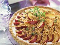 Tart with Lemon Cream and Plums recipe