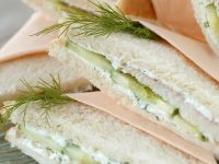 Tea Sandwiches with Smoked Fish, Cucumber and Dill recipe