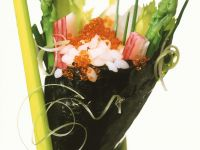 Temaki Sushi with Caviar and Asparagus recipe