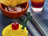 Tequila Sunrise Cocktail Cupcake recipe