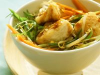 Teriyaki Pollock and Vegetable Stir-Fry recipe