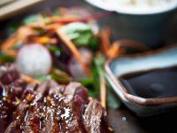 Teriyaki Steak on a Bed of Salad recipe