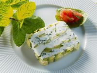 Terrine with Fresh Goat Cheese and Cucumber recipe