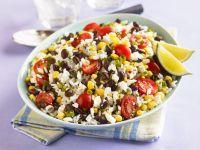 Tex-Mex Style Rice and Bean Salad recipe