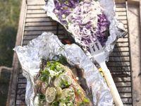 Thai BBQ Salmon with Cabbage recipe