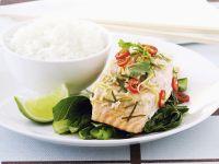 Thai-Inspired Salmon with Bok Choy recipe