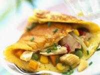 Thick Egg Crepe with Fish Filling recipe
