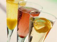 Three Champagne Cocktails