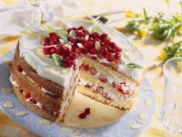 Three-layer Strawberry and Cream Cake recipe