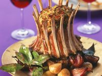 Tied Lamb Rack with Veggies recipe