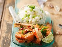 Tiger Shrimp with Scallions and Chili recipe