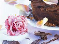 Tiramisu Cake with Candied Rose Petals recipe
