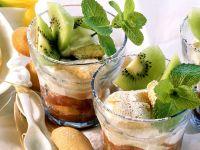 Tiramisu with Strawberries and Rhubarb recipe