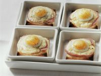 Toast with Ham, Cheese, and Fried Egg