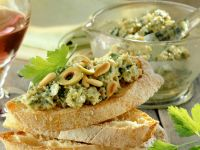 Toasted Ciabatta with Olive and Anchovy Tapenade recipe