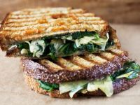 Toasted Panini with Spinach Leaves recipe