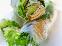 Tofu and Vegetable Rolls with Rice Noodles recipe