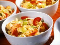 Tofu and Vegetables with Noodles recipe