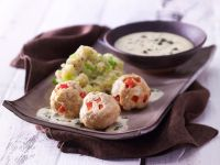Tofu Balls with Caper Sauce recipe
