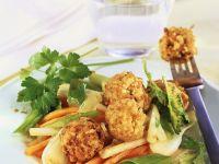 Tofu Dumplings with Stir-fried Vegetables recipe