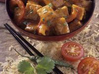 Tofu in Tomato-Pepper Sauce recipe