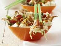Tofu Noodles with Vegetables and Hot Sauce recipe