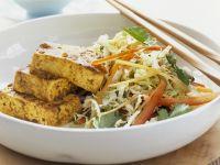 Tofu with Shredded Vegetable Salad recipe
