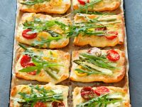 Tomato and Asparagus Tartletts with Arugula recipe
